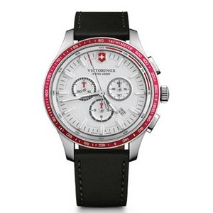 Alliance Sport Chrono Watch w/Black Leather Strap