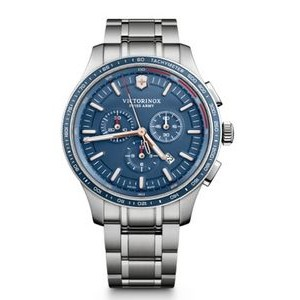 Alliance Sport Chronograph Stainless Steel Watch w/Blue Dial