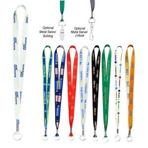 Full Color Imprint Smooth Dye-Sublimation Lanyard - 3/4""