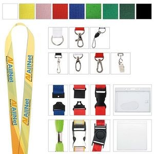 "1"" Universal Source™ Polyester 4 Color Lanyard"